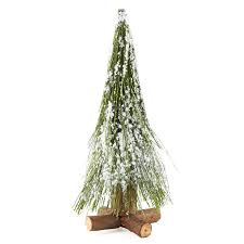 small frosted long needle artificial pine tree christmas trees