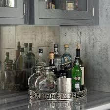 Mirrored Tile Bar Backsplash Design Ideas - Bar backsplash