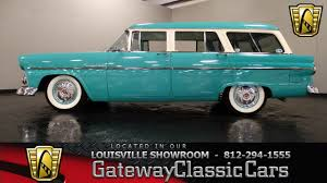 green ford station wagon 1955 ford country sedan wagon louisville showroom stock 899