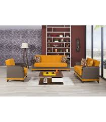 3 Pc Living Room Set 3 Pc Living Room Set By Almira Collection Orange Us Furniture