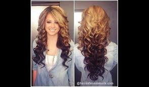 hair styles brown on botton and blond on top pictures of it blonde underneath brown hair medium hair styles ideas 45952