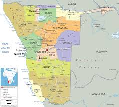 Africa Political Map by Detailed Clear Large Map Of Namibia Ezilon Maps