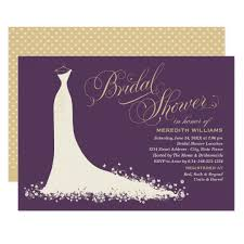 bridal shower invitation wedding gown zazzle