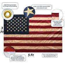 Us Colonial Flag Amazon Com Anley Vintage Style Tea Stained American Us Flag