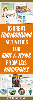 a year of fhe 15 great thanksgiving activities for and