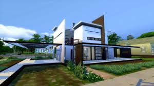 Modernhouse by The Sims 4 Modern House No Cc Modegant Restyle Youtube