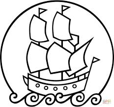 mayflower ship coloring free printable coloring pages