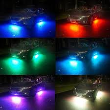 Neon Lights In Cars Interior 7 Color Underglow Led Sound Activated Bluetooth Controlled