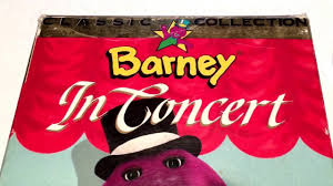 barney in concert video rerelease new cover art 1991 vhs movie