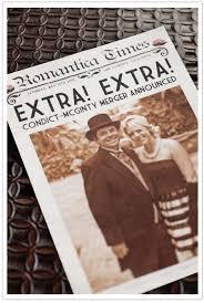 newspaper wedding programs newspaper wedding invitation by alchemy events invitations