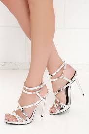 lovely silver heels dress sandals silver sandals 33 00