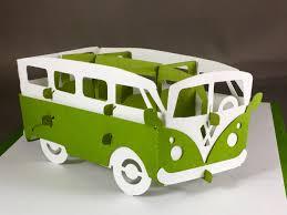 volkswagen van art kirigami volkswagen bus vw bus pop up card pop up birthday