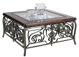 Traditional Coffee Tables by Beveled Glass Distressed Table Traditional Wood Coffee Table