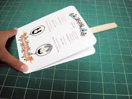 how to make fan wedding programs diy easy peasy paddle programs