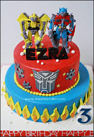 transformer birthday cakes transformer where everything is made with