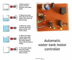 automatic water tank motor controller wiring diagram components