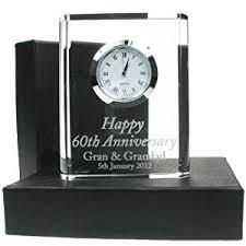 anniversary clock gifts 60th wedding anniversary gift engraved 60th wedding anniversary