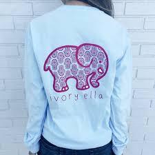 classic fit sky blue pink hamsa tee u2013 ivory ella