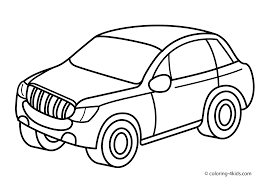 jeep car transportation coloring pages for kids printable free