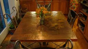 copper kitchen table top