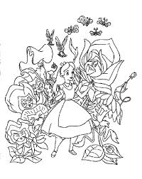 pictures alice in wonderland color pages 30 on free colouring