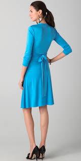 issa faux wrap dress in blue lyst