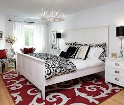 Delectable  Bedroom Decorating Ideas Red White And Black - White and black bedroom designs