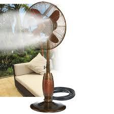Patio Misting Kits Deco Breeze Outdoor Floor Fan Misting Kit U0026 Reviews Wayfair