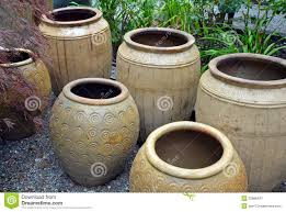 Pots For Plants by Clay Pots In Garden Shop Royalty Free Stock Photography Image