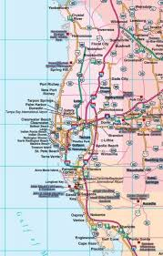 florida highway map central florida road map showing towns cities and