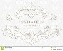 Elegant Invitation Cards Vector Invitation Cards Or Wedding Card With Damask Background