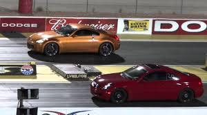 nissan coupe 2006 2005 nissan 350z vs 2006 infiniti g35 youtube