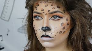 leopard halloween costume halloween leopard makeup tutorial youtube