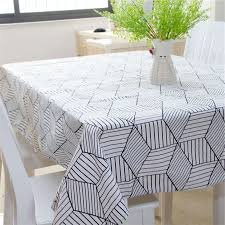 nappe de cuisine rectangulaire toile cirée sur la cuisine linge de table rectangulaire nappe table