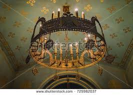 Hanging Heavy Chandelier Ceiling Chandelier Church Stock Images Royalty Free Images