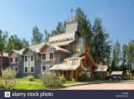 russia traditional house in mandrogi village stock photo royalty