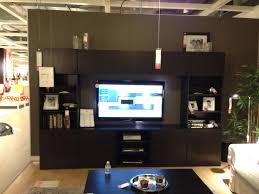 black entertainment center ikea with doors and bookshelf decofurnish