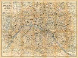 Maps Of Paris France by Old Paris Map Vintage City Map Of Paris 1928 Paris France
