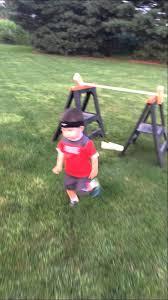 Backyard Ninja Warrior Course Determined Toddler Adorably Completes Backyard U0027american Ninja