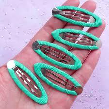 baby barrettes kawaii hair clip blanks with ribbon snap hair barrettes baby
