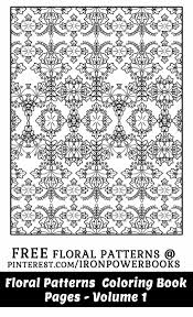 417 best floral coloring pages for adults images on pinterest