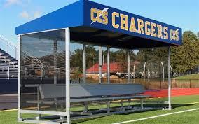 Athletic Benches Aae Athletic Field Equipment Aluminum Portable Press Box