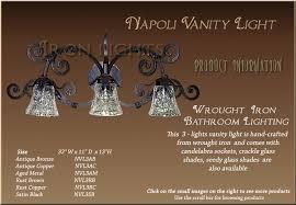 Wrought Iron Bathroom Light Fixtures Bathroom Lighting Iron Wall Sconce Interior Iron Light