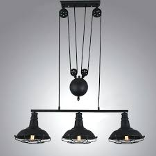 industrial pulley pendant light pendant light pulley 3 light industrial pulley cage light indoor