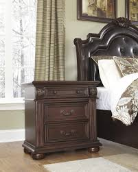 enchanting dark wood nightstand perfect bedroom furniture decor
