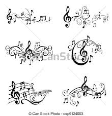 music note drawings of musical notes illustration in vector