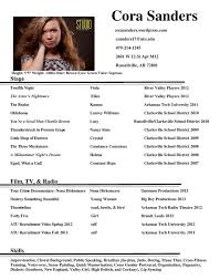Child Actor Resume Template Child Actor Resume Template