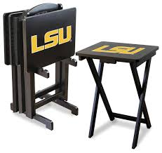 Folding Tv Tray Table Lsu Tigers Folding Tv Tray Tables Contemporary Tv Trays By