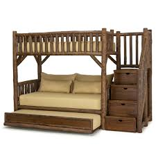 Rustic Bunk Bed Rustic Bunk Bed With Trundle And Stairs La Lune Collection