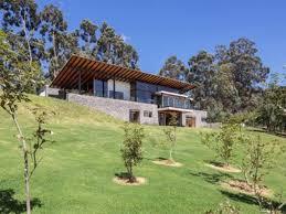 modern hillside house plans 8402